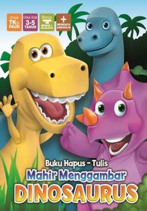 Buku hapus tulis MAHIR MENGGAMBAR dinosaurus