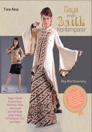 Buku gaya dengan batik kontemporer