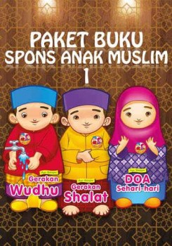 Paket buku spons anak muslim